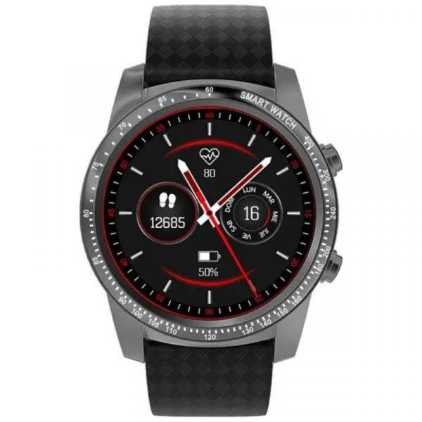 Smartwatch AllCall W1, 3G, 2GB RAM, 16GB ROM, AMOLED 1.39inch, Android 5.1, MTK MT6580M QuadCore, Bluetooth v4.0, GPS, 400mAh, Gri inchis imagine