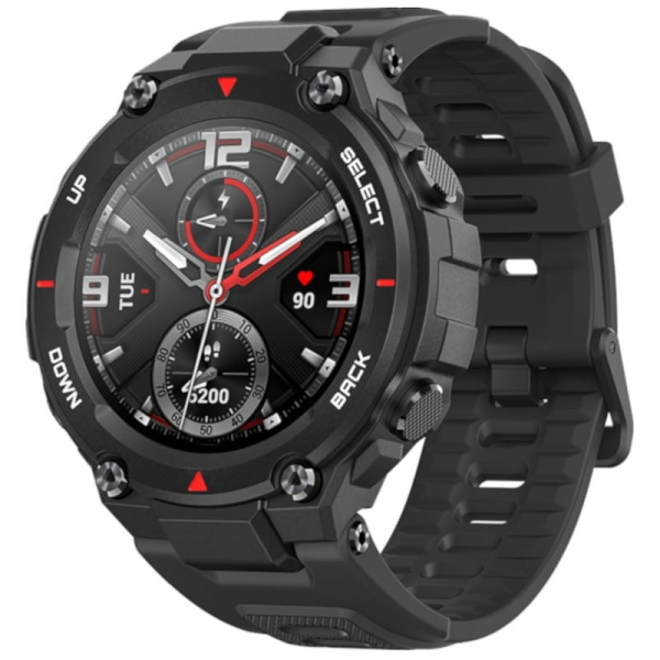 Smartwatch Xiaomi Huami Amazfit T-Rex, AMOLED 1.3 inch, GPS, Waterproof 5ATM (suporta inot), Bluetooth 5.0, 390 mAh, Negru imagine
