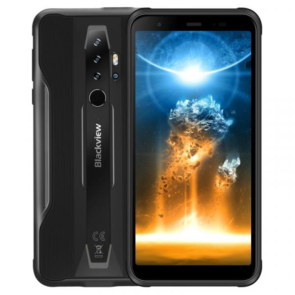 Telefon mobil Blackview BV6300 Pro, 4G, IPS 5.7 , 6GB RAM, 128GB ROM, Android 10, Helio P70 OctaCore, IP69K, 4380mAh, Dual SIM, Negru imagine