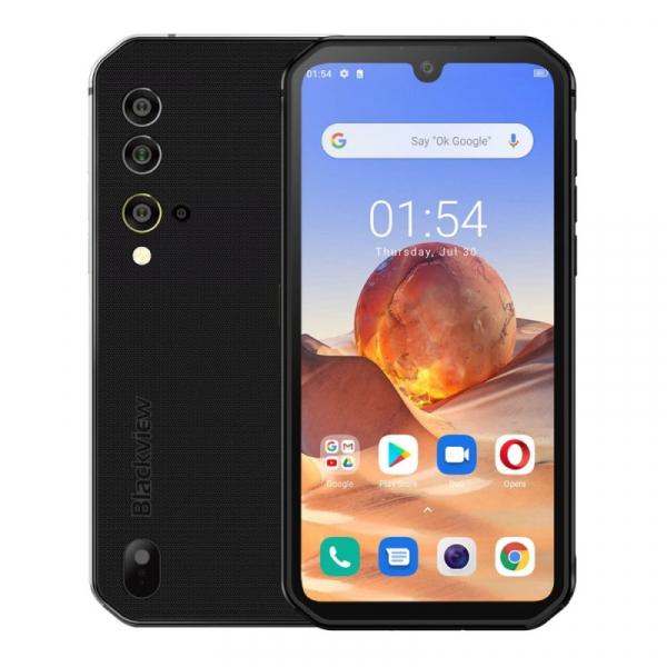 Telefon mobil Blackview BV9900E, 4G, IPS 5.84 , 6GB RAM, 128GB ROM, Android 10, Helio P90 OctaCore, NFC, 4380mAh, Dual SIM, Gri imagine