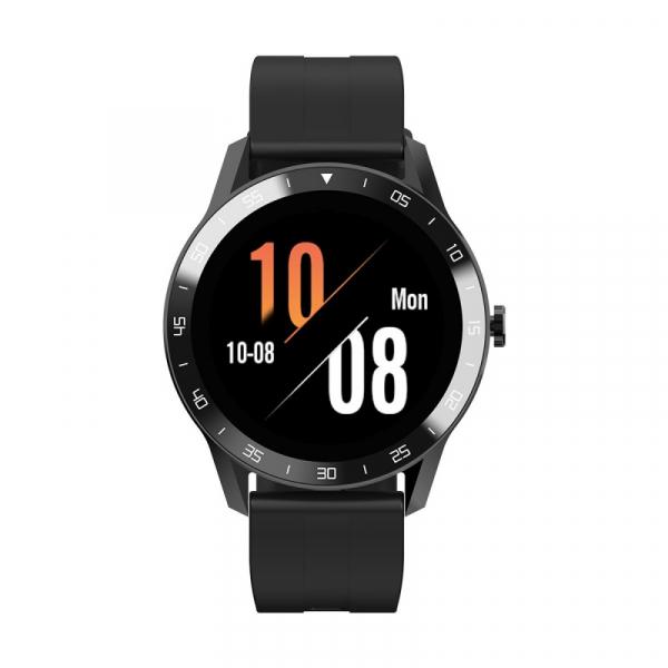 Smartwatch Blackview X1, LCD 1.3inch curbat 3D, 64MB ROM, Nodic nRF52832, Bluetooth v5.0, 260mAh, Curea cadou, Negru imagine