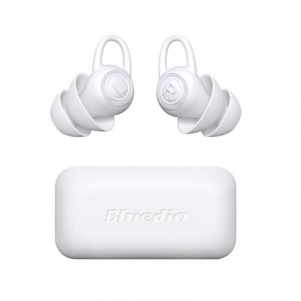 Dopuri pentru urechi Bluedio Earplugs din silicon si cutie de transport, Reducere zgomot pana la -40dB, Alb imagine