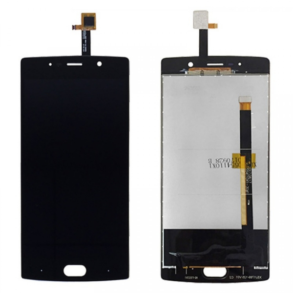 Display OGS original Doogee BL7000 Negru cu banda flex lunga imagine