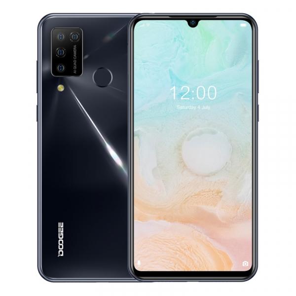 Telefon mobil Doogee N20 Pro, 4G, IPS 6.3 Waterdrop, 6GB RAM, 128GB ROM, Android 10, Helio P60, 4400mAh, Dual SIM, Gri imagine