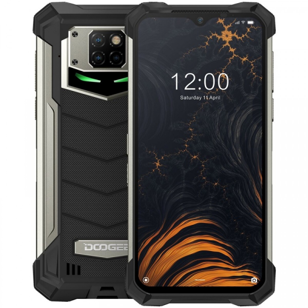 Telefon mobil Doogee S88 Pro, 4G, IPS 6.3 , 6GB RAM, 128GB ROM, Android 10, Helio P70 OctaCore, Waterproof, 10000mAh, Dual SIM, Negru imagine