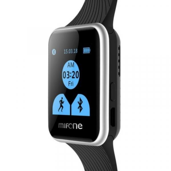 Smartwatch Mifone W15, Sapphire Touch Screen 1.44 curbat 2D, 128MB ROM, 64MB RAM, ARM9, Bluetooth v3.0, 405mAh, Negru imagine