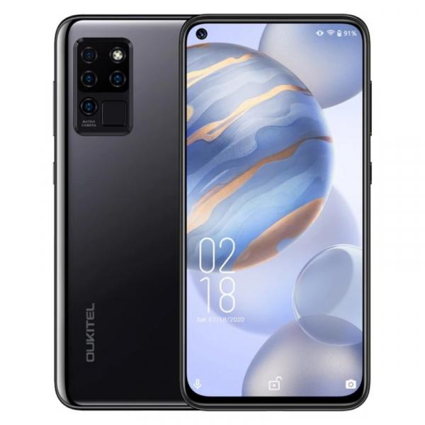 Telefon mobil Oukitel C21, 4G, IPS 6.4 Hole-Punch, 4GB RAM, 64GB ROM, Android 10, Helio P60 OctaCore, 4000mAh, Dual SIM, Negru imagine