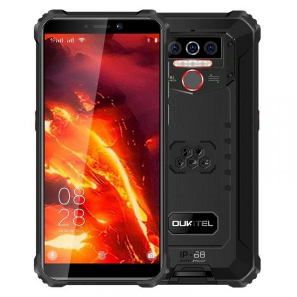 Telefon mobil Oukitel WP5 Pro, 4G, IPS 5.5 , 4GB RAM, 64GB ROM, Android 10, Helio A25 OctaCore, Waterproof, 8000mAh, Dual SIM, Negru imagine