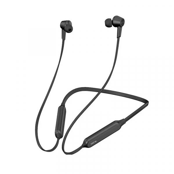 Casti bluetooth in-ear QCY L2 cu guler, 32 , Microfon, Smart control, ANC, Bluetooth v5.0, 210mAh, IPX4, Negru imagine