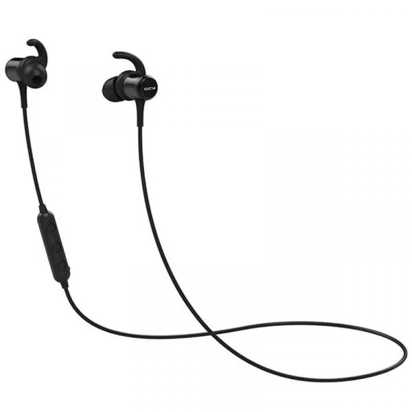 Casti bluetooth in-ear QCY M1c cu guler, 32 , Microfon, Control pe fir, Magnetice, Bluetooth v5.0, 90mAh, Negru imagine