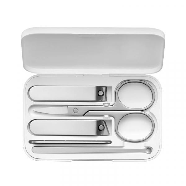 Set de manichiura si pedichiura Xiaomi cu 5 piese din otel inoxidabil si cutie magnetica de depozitare si transport imagine