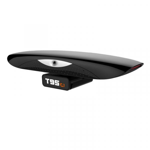 TV Box VONTAR T95C1 video conferinta, 4K, Android 9.0, 2GB RAM, 16GB ROM, RK3368 OctaCore, Camera, WiFi Dual Band, Bluetooth Slot memorie imagine