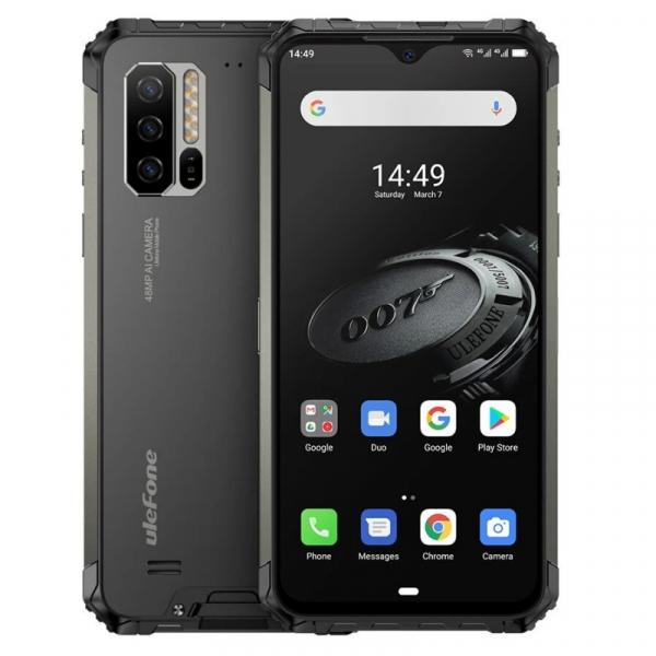 Telefon mobil Ulefone Armor 7E, IPS 6.3inch, 4GB RAM, 128GB ROM, Android 9.0, Helio P90 OctaCore, Incarcare wireless, 5500mAh, Dual Sim imagine