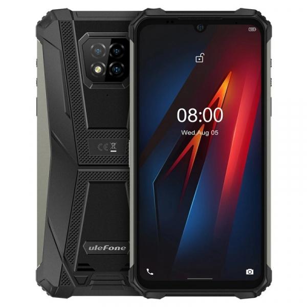 Telefon mobil Ulefone Armor 8, 4G, IPS 6.1 , 4GB RAM, 64GB ROM, Android 10, Helio P60, Camera submersibila, 5580mAh, Dual SIM, Negru imagine