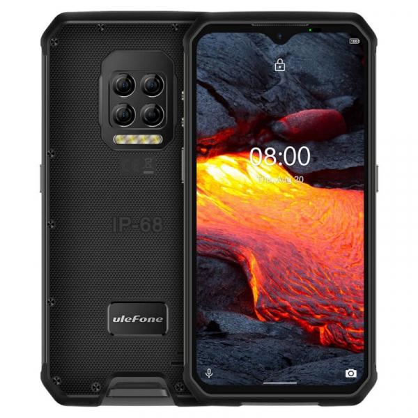 Telefon mobil Ulefone Armor 9E, 4G, IPS 6.3 , 8GB RAM, 128GB ROM, Android 10, Helio P90, Camera submersibila, 6600mAh, Dual SIM, Negru imagine