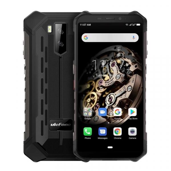 Telefon mobil Ulefone Armor X5, 4G, IPS 5.5inch, 3GB RAM, 32GB ROM, Android 10.0, MT6762 OctaCore, Waterproof, 5000mAh, Dual SIM, Negru imagine