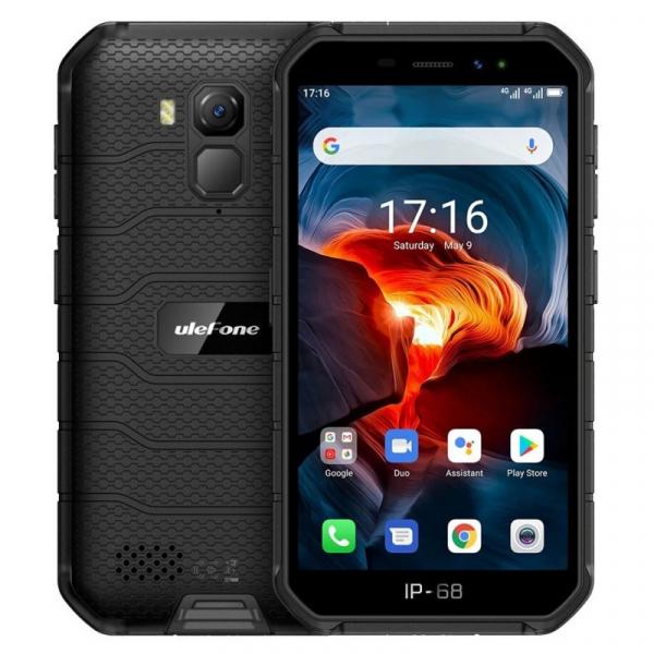Telefon mobil Ulefone Armor X7 Pro, 4G, IPS 5inch, 4GB RAM, 32GB ROM, Android 10, Helio A20 QuadCore, NFC, 4000mAh, Dual SIM, Negru imagine