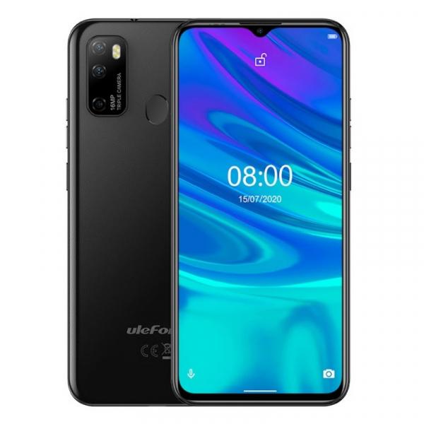 Telefon mobil Ulefone Note 9P, 4G, 6.52 Waterdrop, 4GB RAM, 64GB ROM, Android 10, Helio P22 OctaCore, 4500mAh, Dual SIM, Negru imagine