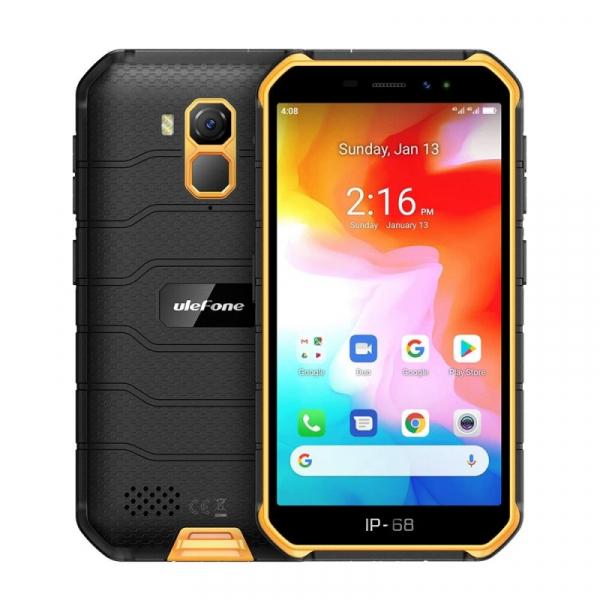 Telefon mobil Ulefone Armor X7, 4G, IPS 5inch, 2GB RAM, 16GB ROM, Android 10, Helio A20 QuadCore, NFC, 4000mAh, Dual SIM, Orange imagine