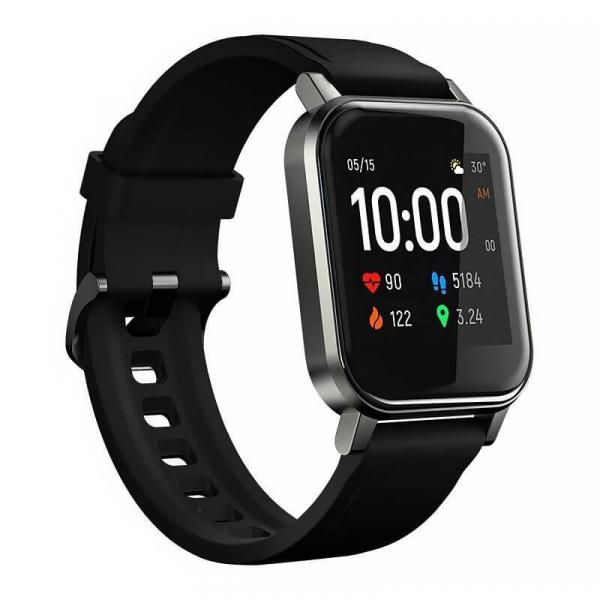 Smartwatch Xiaomi Haylou LS02, TFT 1.4 Touch Screen, Multi-sport, Bluetooth v5.0, IP68, 260mAh, Negru imagine