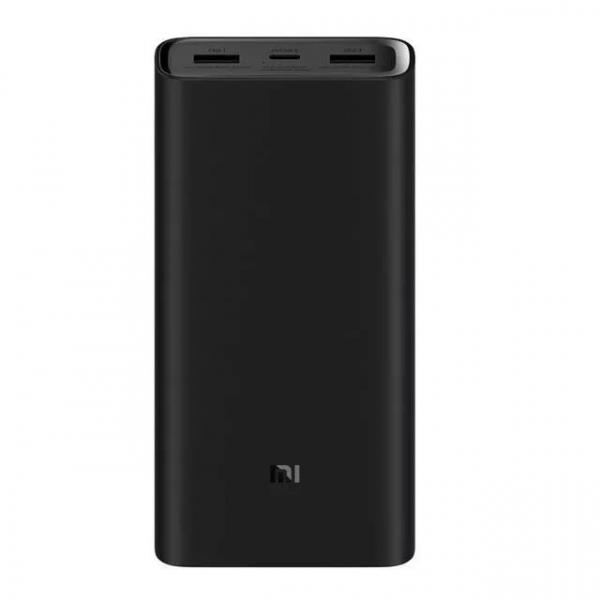 Acumulator extern Xiaomi Mi Power Bank 3 Pro, 20000mAh, USB tip C, Dual USB, Incarcare rapida 45W imagine