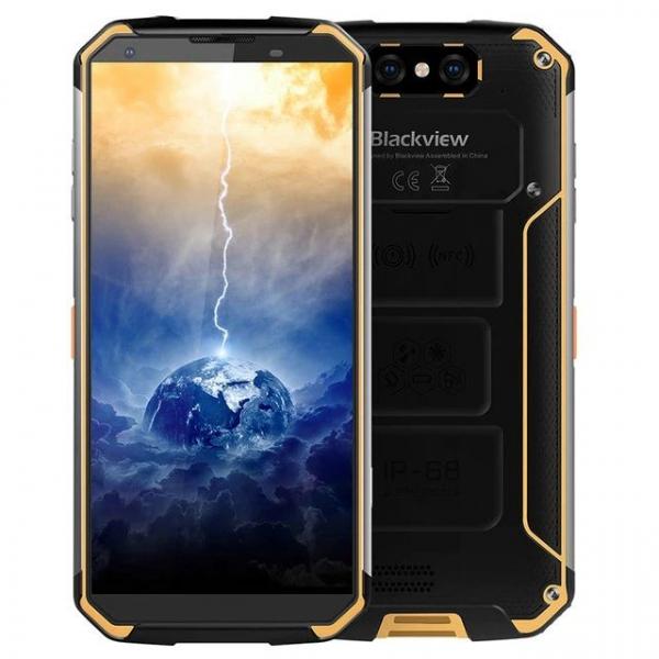 Telefon mobil Blackview BV9500 Plus Galben, 4G, IPS 5.7 , 4GB RAM, 64GB ROM, Android 9, Helio-P70 OctaCore, 10000mAh, Dual SIM, Resigilat imagine