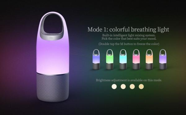 Boxa Portabila Wireless Nillkin Cozy MC3 Pro 3 in 1, Lampa Led multicolora, PowerBank, Bluetooth, Aux, Microfon imagine