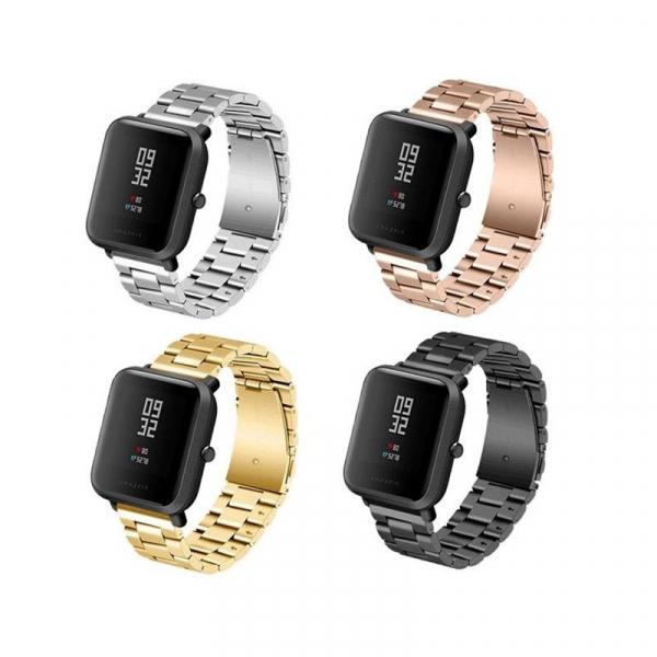 Bratara de schimb din metal cu zale mari pentru smartwatch Xiaomi AmazFit Bip imagine