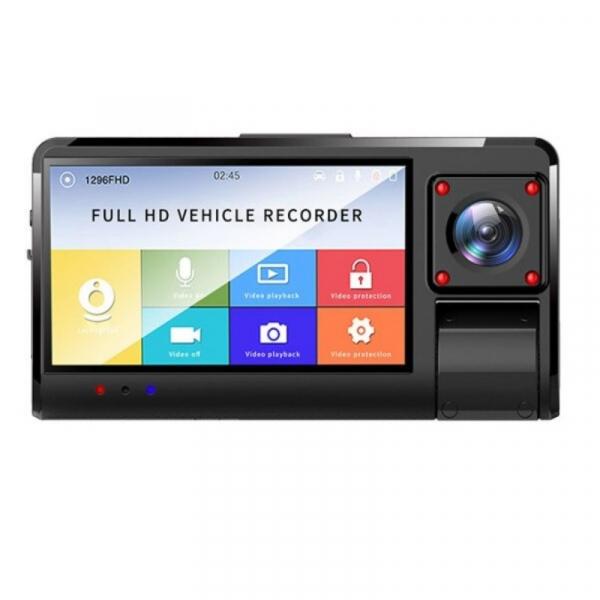 Camera auto DVR STAR K13 FHD, 3.0 Touch Screen, 3 Camere, Picture in picture, Slot memorie, 300mAh imagine