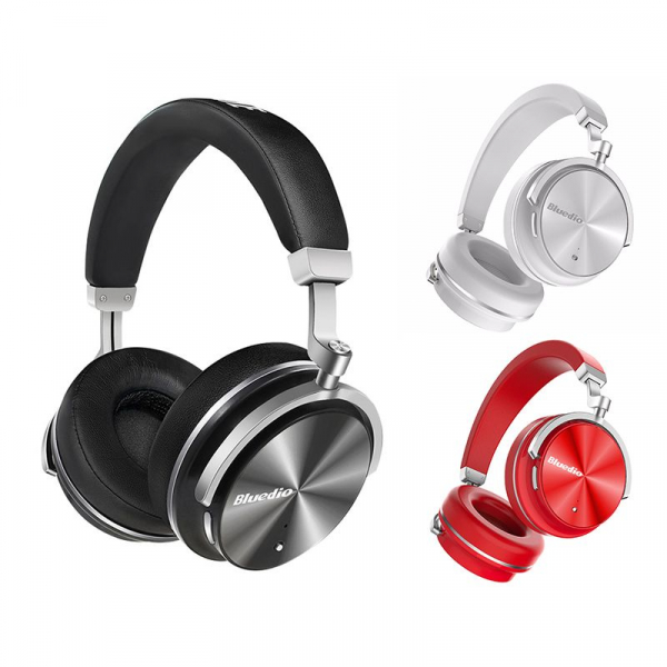 Casti Bluetooth Bluedio T4 Bluetooth 4.2, Wireless, Stereo, microfon incorporat, active noise cancellation, usb tip C imagine