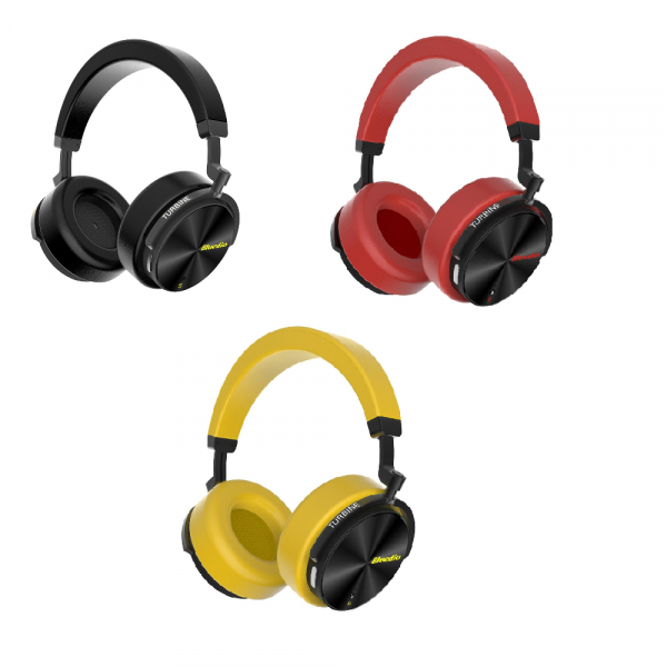Casti Wireless Stereo Bluedio T5S, Anularea zgomotelor, Tip C, Bluetooth, Microfon, Extra Bass, Senzor Infrarosu imagine