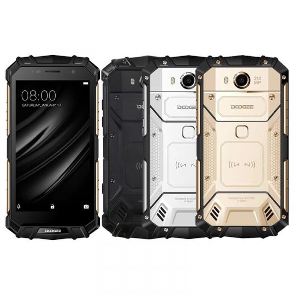 Telefon mobil Doogee S60 4G, Android 7.0, 6GB RAM 64GB ROM, Octa Core, 5.2 inchi, Incarcare wireless, Amprenta, Waterproof, DualSim imagine