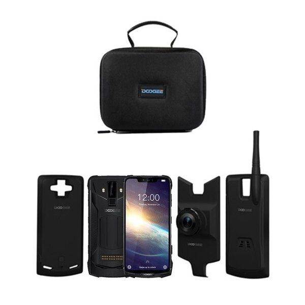 Pachet telefon mobil + 3 module Doogee S90 Pro Super, Android 9.0, 6GB RAM, 128GB ROM, 6.18 IPS, Helio P70 OctaCore, NFC, 5050mAh imagine