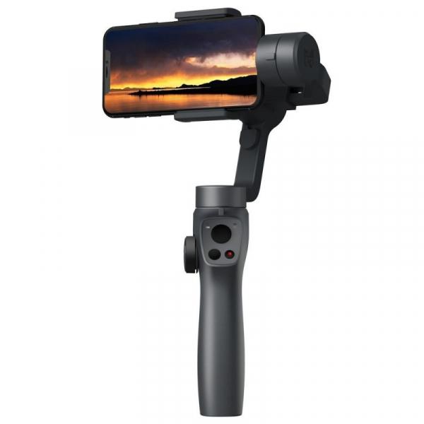 Stabilizator gimbal pe 3 axe FunSnap Capture 2S, Auto face tracking, Control zoom, Time lapse, Brat extensibil, 4000mAh, Negru imagine