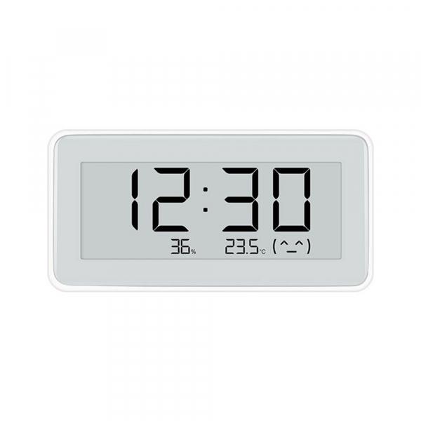 Higrometru Xiaomi Mijia Digital cu ceas, Ecran LCD E-Ink 3.7 inch, Bluetooth, Senzori de temperatura si umiditate imagine