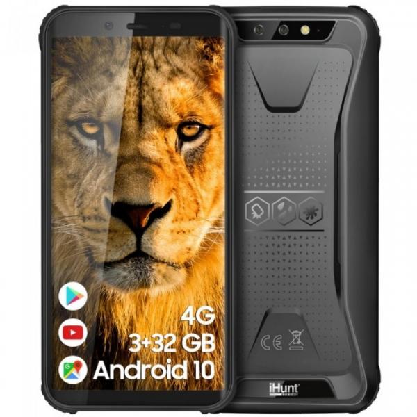 Telefon mobil iHunt S60 Discovery Plus 2021, 4G, IPS 5.5 , 3GB RAM, 32GB ROM, Android 10, MTK6739 QuadCore, NFC, 4400mAh, Dual SIM, Negru imagine