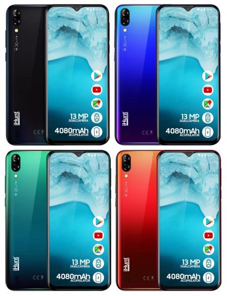 Telefon mobil iHunt Alien X Lite 2020, 6.1 inch, MediaTek MT6580A, 1GB RAM, 16GB ROM, Android 8.1 Oreo GO, Quad Core, 4080mAh imagine