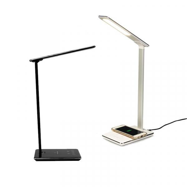 Lampa de birou cu incarcare wireless, Pliabila, Protectie ochi, Iesire USB, Viziune Led, Control prin atingere imagine
