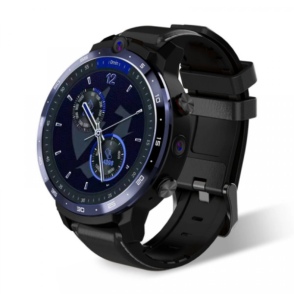 Smartwatch Lemfo LEM12 Pro, 4G, IPS 1.6 , 4GB RAM, 64GB ROM, Android 10, MT6762 OctaCore, GPS, Proiectie wireless, 900mAh, Negru imagine