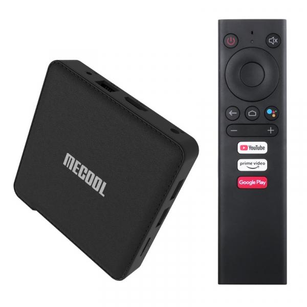 TV Box MECOOL KM1, 4K, Android 9.0, 4GB RAM, 64GB ROM, S905X3 QuadCore, USB 3.0, HDR10+, Wi-Fi 2T2R, Bluetooth, Chromecast, Slot card imagine