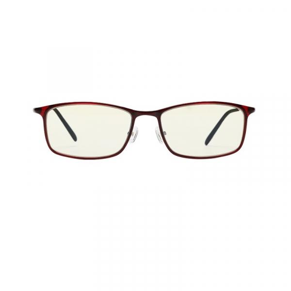 Ochelari de protectie Xiaomi Mi Computer Glasses, UV400, Blocare lumina albastra 40%, Lentile galbene, Usori si confortabili, Rosu imagine