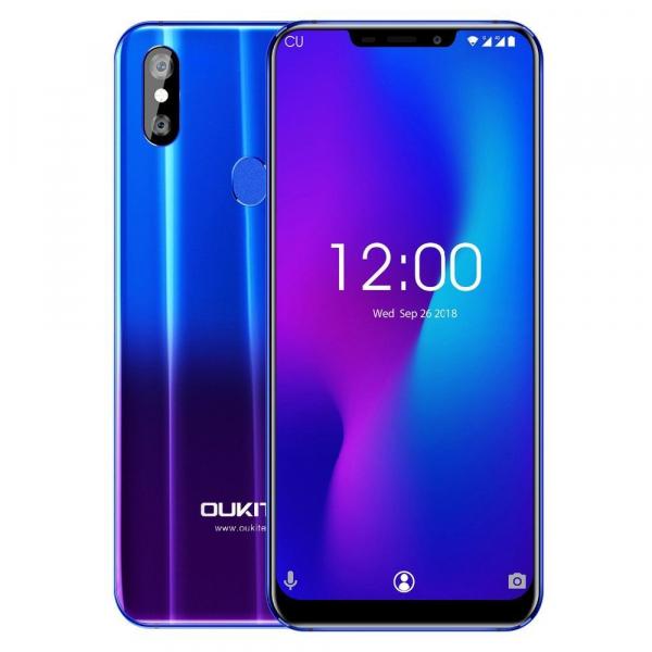 Telefon mobil Oukitel U23, 6.18 inch Notch Display, Android 8.1, MTK6763T Helio P23 OctaCore, 6G RAM,64G ROM, Incarcare Wireless, Face ID imagine