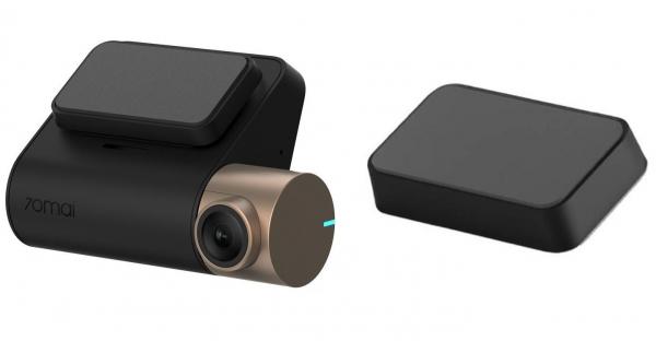 Pachet camera auto Xiaomi 70Mai Midrive D08 Dash Cam Lite + Modul GPS D03, 1080p, Wifi, Inregistrare 130 grade, Giroscop, 500mAh imagine