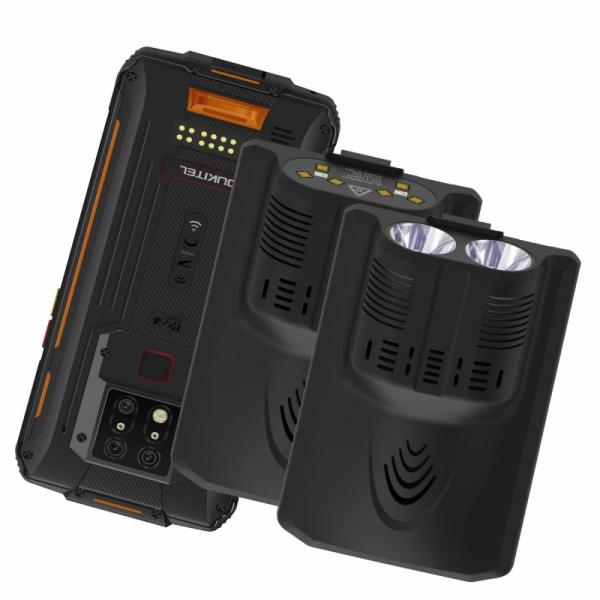 Pachet telefon mobil Oukitel WP7 cu modul UVC si lanterna, 4G, IPS 6.53 , 8GB RAM, 128GB ROM, Helio P90, NFC, IP68, 8000mAh, Dual SIM,Orange imagine