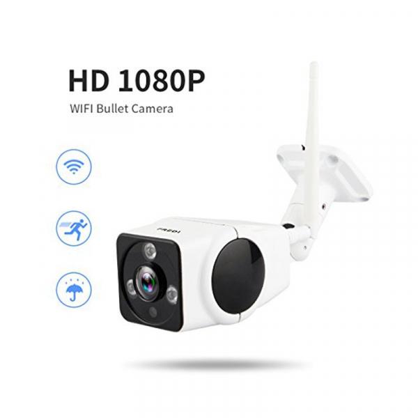 Panoramic Camera V380, 2 MP, Unghi de vizualizare 360 grade, Waterproof, Wireless, Night Vision, Microfon, Difuzor, Slot Card imagine