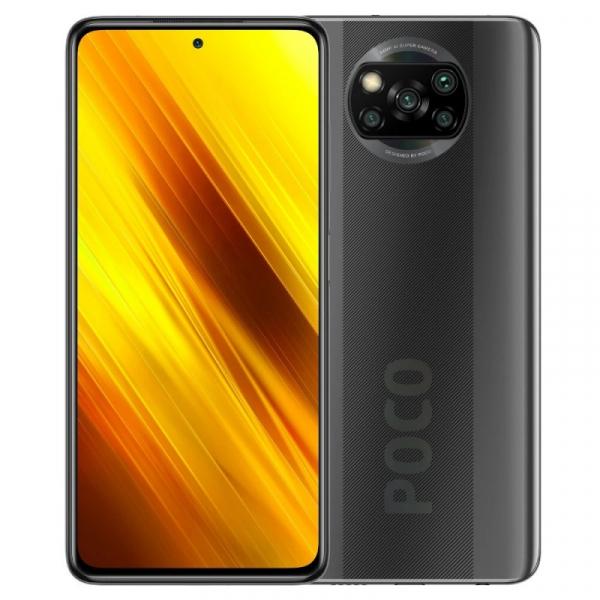 Telefon mobil Xiaomi POCO X3 NFC, 4G, IPS 6.67 , 6GB RAM, 128GB ROM, MIUI v12 POCO, Snapdragon 732G, NFC, 5160mAh, Dual SIM, EU, Gri imagine