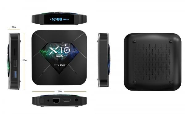 R-TV BOX X10 PRO Smart Media Player, 3D, 4K HDR, RAM 4GB, ROM 64GB, Android 8.1, Quad Core imagine