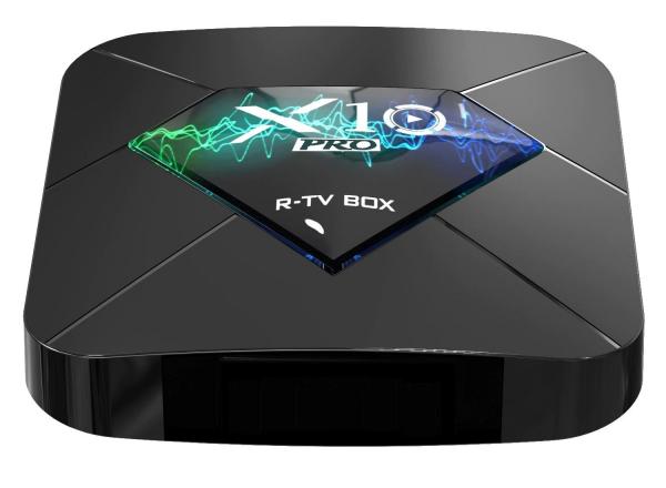 R-TV BOX X10 PRO Smart Media Player, 3D, 4K, HDR10, RAM 4GB DDR3, ROM 64GB, Amlogic S905X2, Android 9.0, Quad Core imagine
