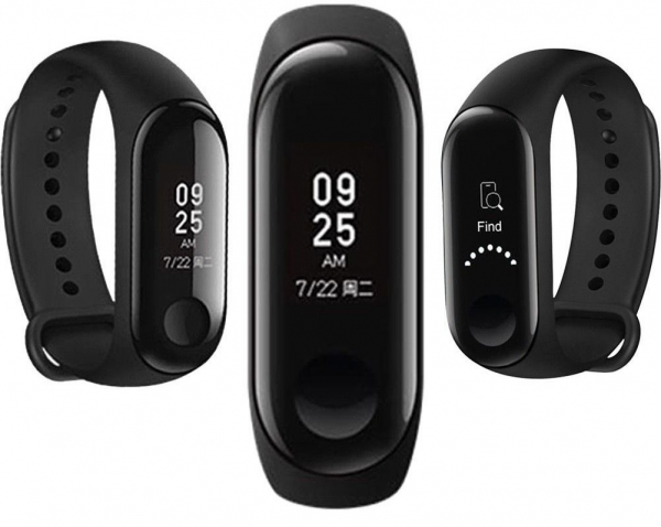 Smartband Xiaomi Mi Band 3 Global, folie protectie cadou, Waterproof, Touch OLED 0.78 inchi, Pedometru, Notificari, Ritm cardiac imagine