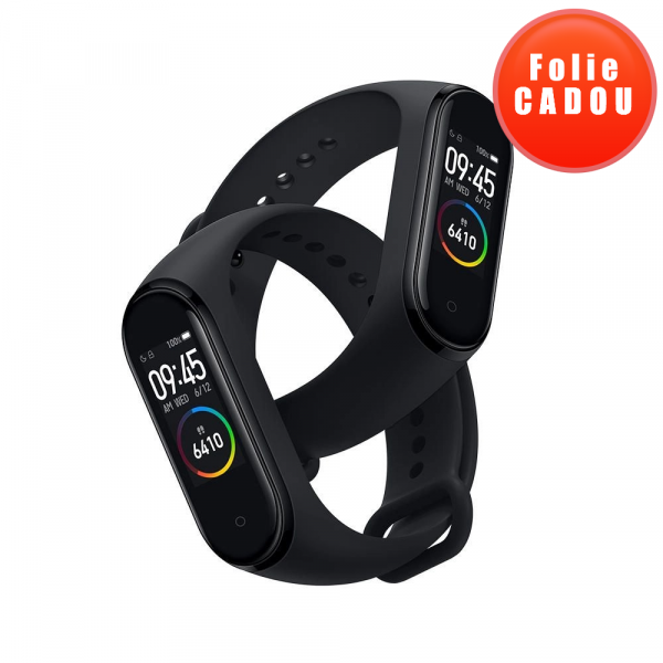 Smartband Xiaomi Mi Band 4, Folie cadou, LCD Touch Screen, Waterproof, Ritm Cardiac, Fitness Tracker, Bluetooth 5.0, 135 mAh imagine